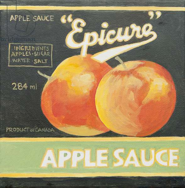 Epicure apple sauce can label (acrylic)