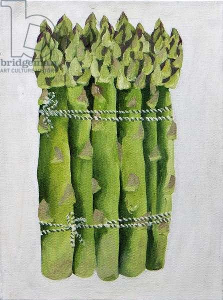Asparagus,2013, (acrylic on canvas)