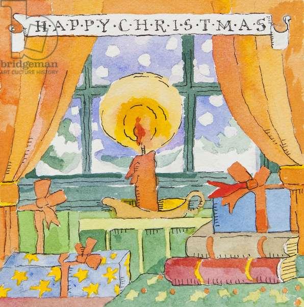 Christmas Window (watercolour)