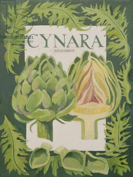 Cynara (globe artichoke) (acrylic)