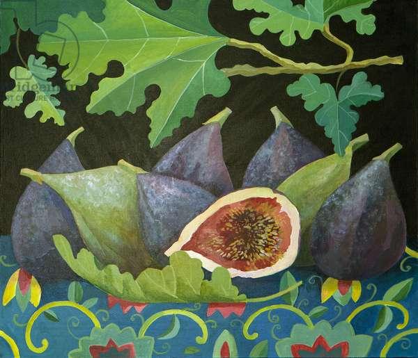 Figs on black, 2014, (acrylic on canvas)