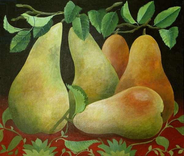 Pears, 2014, (acrylic on canvas)