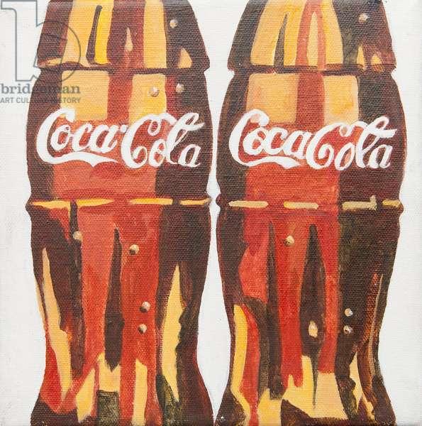 Coca Cola bottles (acrylic)