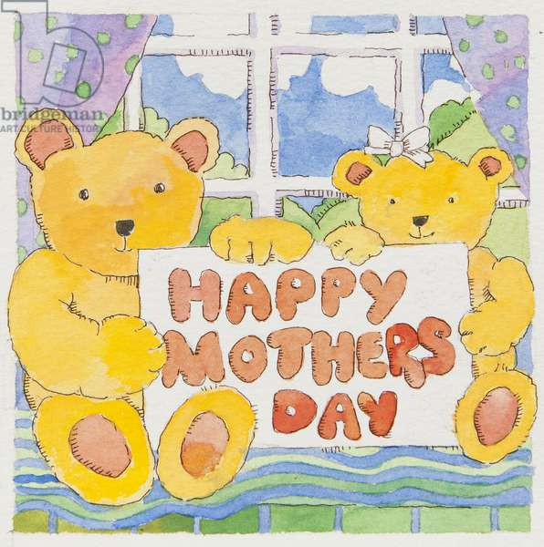 Mothers Day Bears (watercolour)