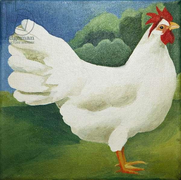 Cockerel, 2013, (acrylic on canvas)
