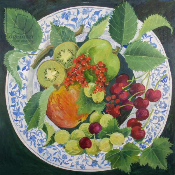 Apples and Grapes, 2018 (acrylic on canvas)