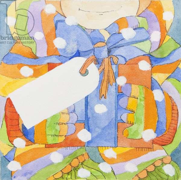 Christmas parcel (watercolour)