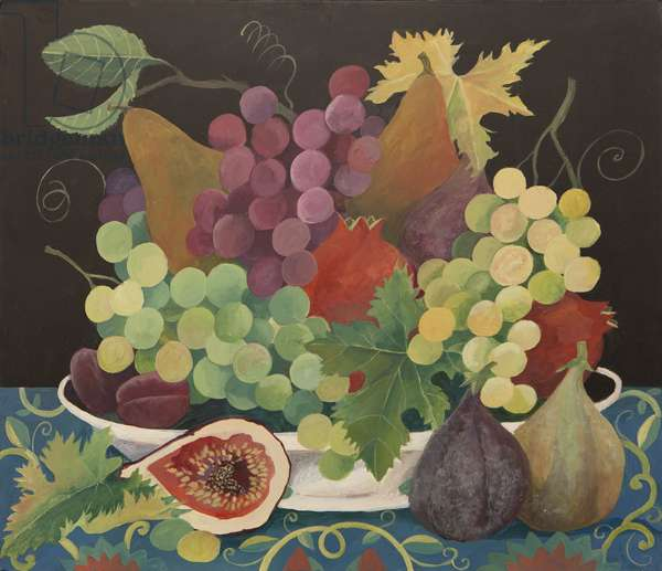 Fruit in a bowl (acrylic)
