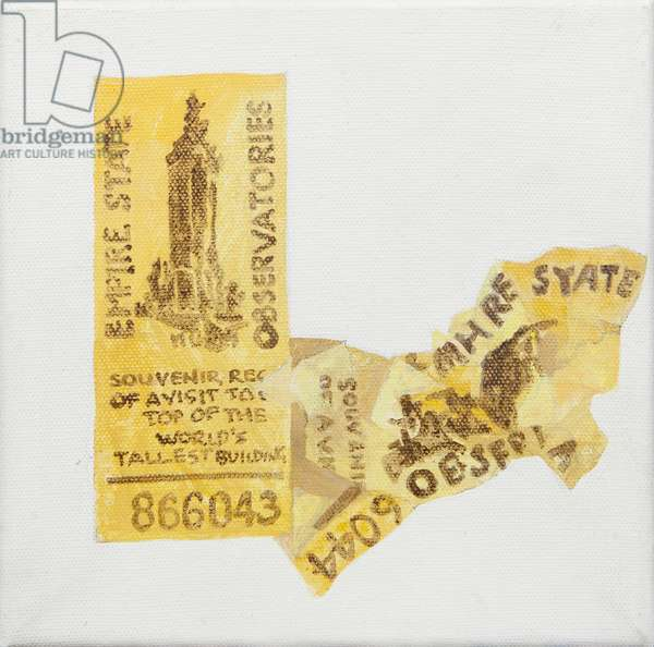 Old ticket of Empire State Builidng, 1 ticked torn up