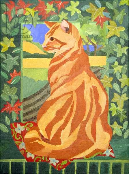 Cat 1, 2014, (acrylic on canvas)