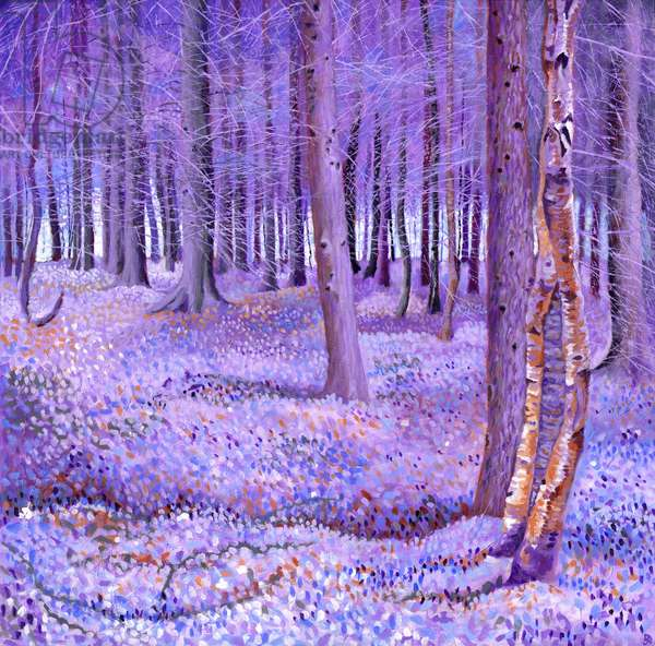 Purple Forest 2, 2012, (acrylic on canvas)
