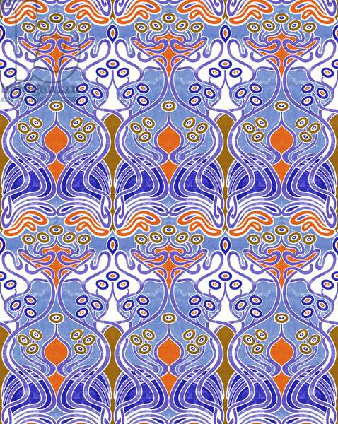 Beauclair Blue Orange, 2018, (mixed media digital)