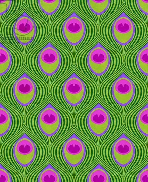 Peacock Green, 2019, (mixed media digital)