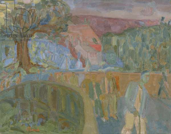Down from the Welsh Quarries, 1948 (oil on canvas)