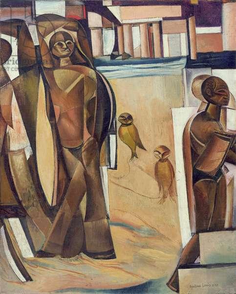 Inca with Birds, 1933 (oil on canvas)