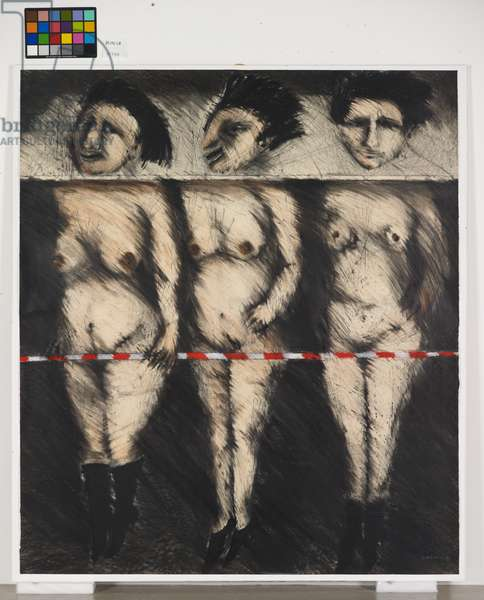 The Three Graces, 1983 (graphite, charcoal & pastel on paper)