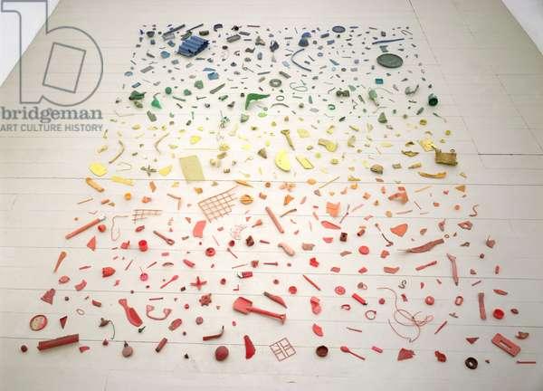 New Stones - Newton's Tones, 1978 (found plastic objects)