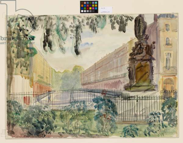 Bedford Place, London, 1970 (w/c & pencil on paper)