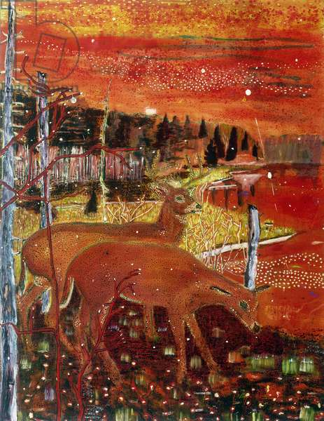 Red Deer, 1990 (oil on canvas)