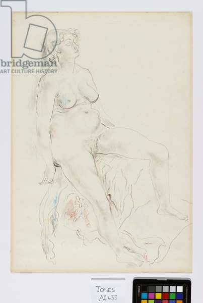 Nude: Miss Lilian Peterson, 1926 (pencil & w/c on paper)