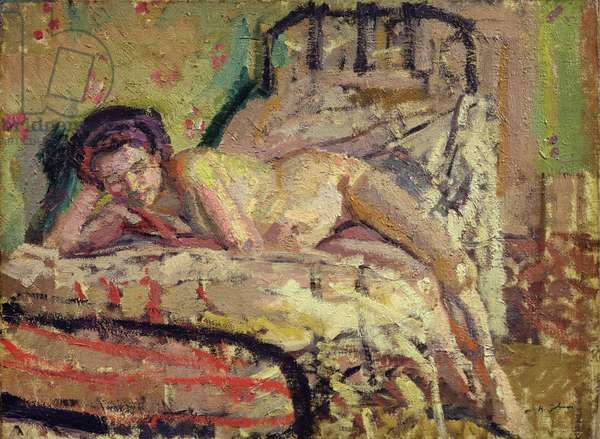 The Model, 1911 (oil on canvas)
