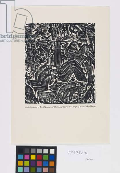 'The Deluge' illustrations: The Oblation of Noe [10/10], 1927 (wood engraving)