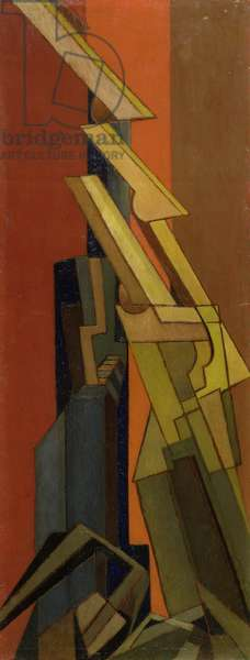 Abstract, c.1915-20 (oil on panel)