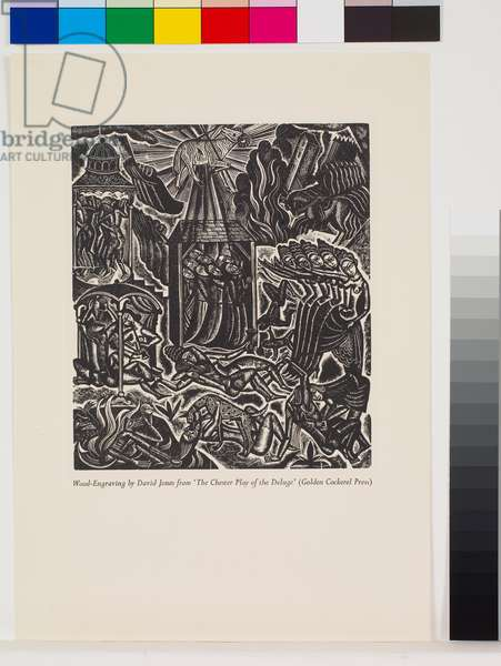 'The Deluge' illustrations: Antidiluvian Society [1/10], 1927 (wood engraving)