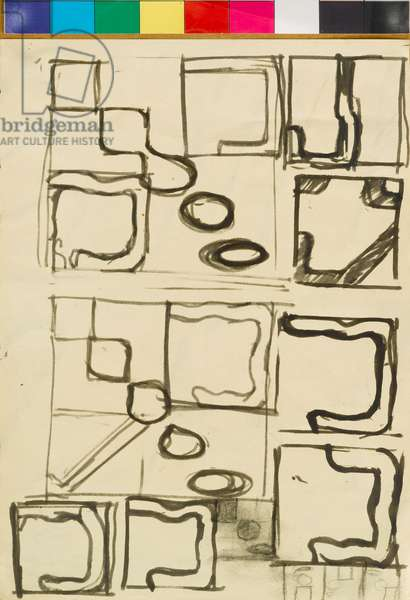 Drawing related to 'Untitled Nos. 36, 38, 32, 33', 1964-65 (ink on paper)