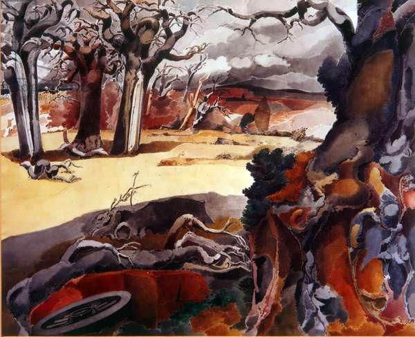 Blasted Oak, 1942 (w/c on paper)