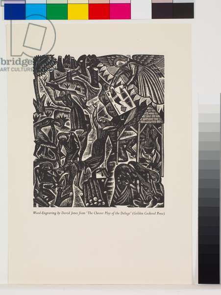 'The Deluge' illustrations: Preparing to Build [2/10], 1927 (wood engraving)