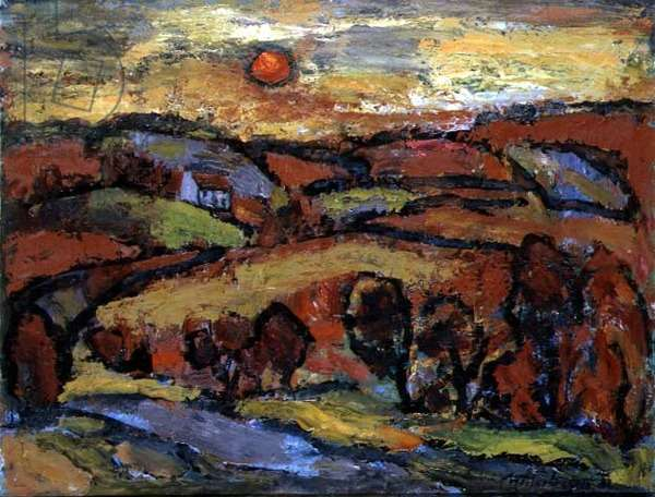 Winter Sunset, the Red Soil, 1956 (oil on canvas)