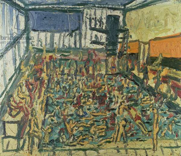Children's Swimming Pool, Autumn, 1972 (oil on board)