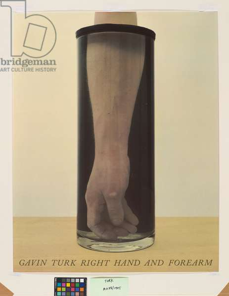 Gavin Turk Right Hand and Forearm, 1992 (screenprint with varnish)