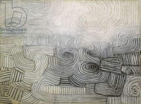 The Snowstorm: Spiral Motif in Black and White, 1950-51 (oil on canvas)