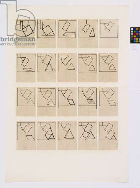 Drawings related to 'Untitled No.51', 1966 (ink on paper)