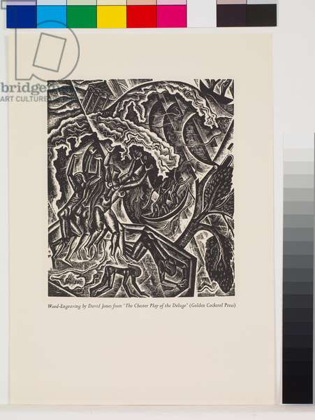 'The Deluge' illustrations: The Deluge, first part [7/10], 1927 (wood engraving)