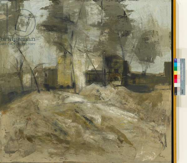 Delamere Terrace, 1960 (oil on board)