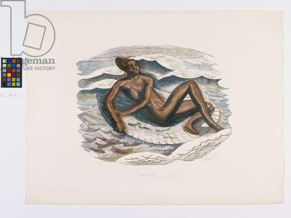 Venus Africana (1st trial proof), 1949 (wood engraving)