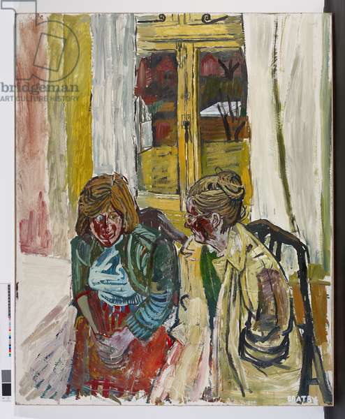 Jean and Susan, 1956 (oil on board)