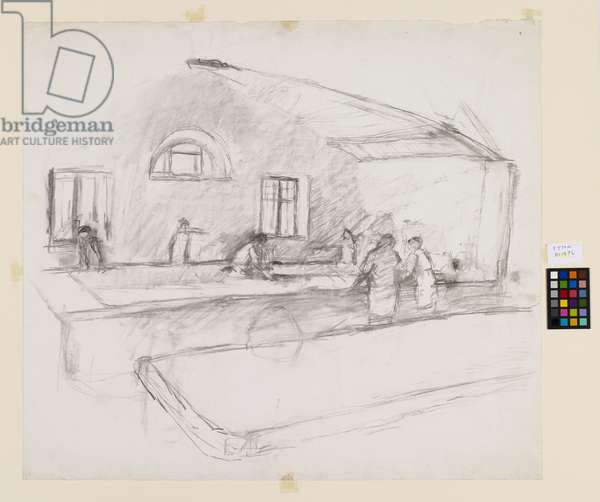 Tarquinia Wash-house, 1967 (pencil on paper)