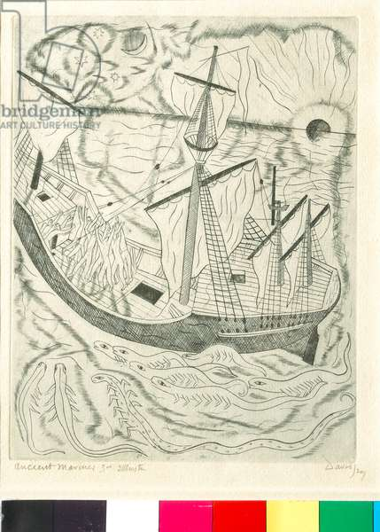 Illustrations to The Ancient Mariner (3/10), 1929 (copper engraving)