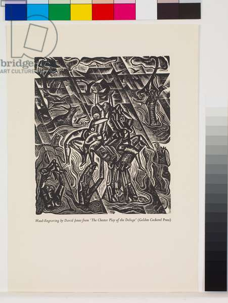 'The Deluge' illustrations: The Deluge, second part [8/10], 1927 (wood engraving)