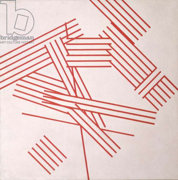 Chance and Order 5 (Red) 1970 (oil on canvas)