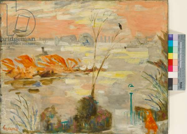 High Tide, Chiswick Reach, 1947 (oil on canvas)
