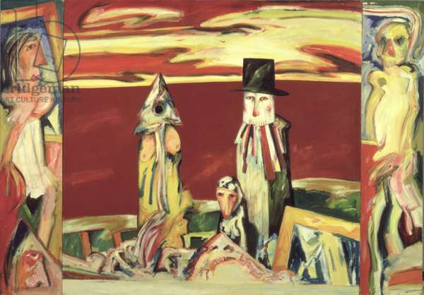 The Sea People, 1975 (oil on canvas)