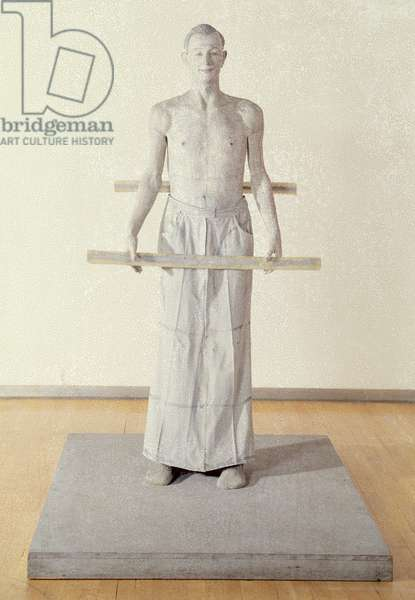 Figure with Slats, 1973-75 (fibreglass, polyester, resin, fillers, cloth and emulsion paint)