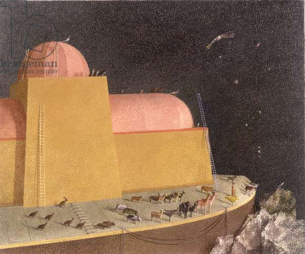 Noah's Ark, 1977 (oil on canvas)