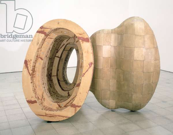 Kiss and Tell, 1989 (epoxy, timber, plywood and steel) (see also 106780)