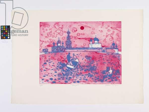 Novgorod, 1970 (colour litho & etching)